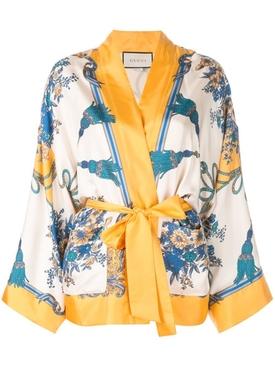 silk kimono jacket MULTICOLOR