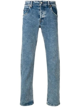 Classic tapered blue jeans