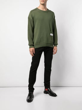 Givenchy - Patch Pocket Jumper Olive Green - Sweaters & Knitwear