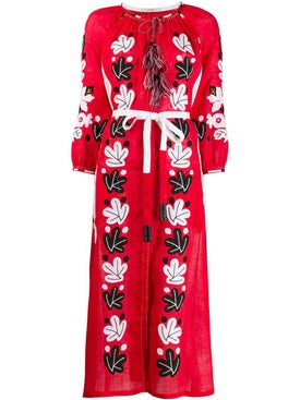 Vita Kin - Embroidered Leafs Dress Red - Women