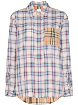 Payton contrast check shirt