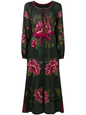 Vita Kin - Rose Print Button-front Maxi Dress - Women