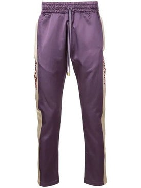 Just Don - Purple Satin Side Stripe Tearaway Trousers - Men