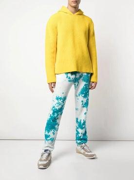 The Elder Statesman - Marble Dyed Fleece Sweatpants - Sweats
