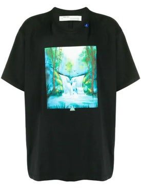 Off-white - Waterfalls-print T-shirt Black - Men