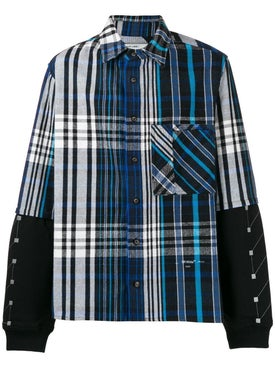 Off-white - Jersey Sleeve Flannel Shirt Blue - Men