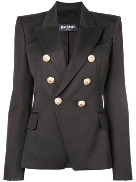 Balmain - Double Breasted Blazer Black - Tailoring