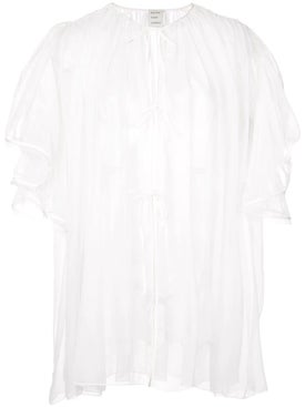 Maison Rabih Kayrouz - Ruffle Sleeves Sheer Top - Women