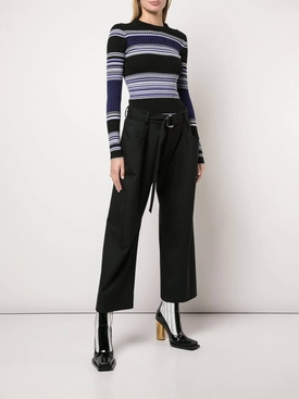 Striped Rib Crew neck Top