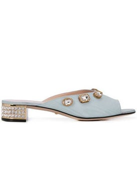 Gucci - Crystal Embellished Mules - Women