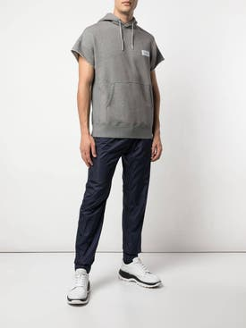 Givenchy - Drawstring Short Sleeve Hoodie Grey - Men