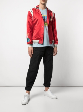 Silk Cape Varsity Jacket