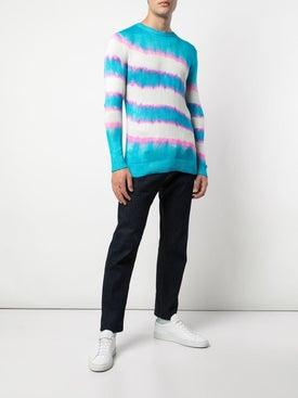 The Elder Statesman - Raya Tie Dye Striped Sweater - Men