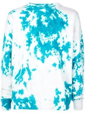 The Elder Statesman - Marble Dyed Fleece Sweatshirt - Sweatshirts