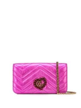 Gucci - Pink Quilted Metallic Shoulder Bag - Women