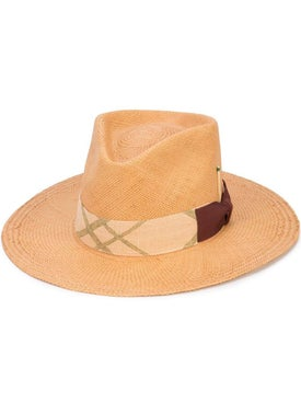 Nick Fouquet - Woven Trilby Hat Neutral - Women