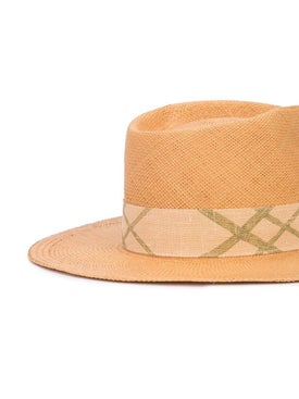 Nick Fouquet - Woven Trilby Hat Neutral - Straw