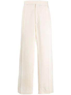 Haider Ackermann - Off-white Wide Leg Trousers - Men