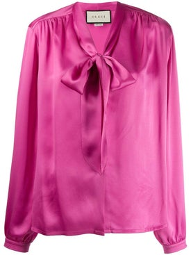Gucci - Hot Pink Pussybow Blouse - Women