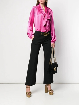 Hot pink pussybow blouse PINK