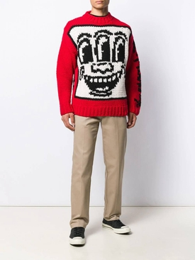 Études x Keith Haring intarsia knit sweater