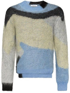 Ambush - Mohair Crew Neck Sweater Blue - Men