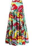 La Doublej - Multicolored Tiered Maxi Skirt - Women