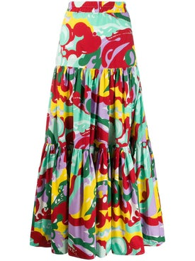 La Doublej - Multicolored Tiered Maxi Skirt - Women