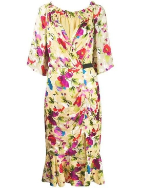 floral shift midi dress MULTICOLOR