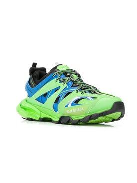 Balenciaga - Lime Green Track Sneakers - Men