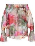 Adam Lippes - Floral Print Off-shoulder Top - Off The Shoulder