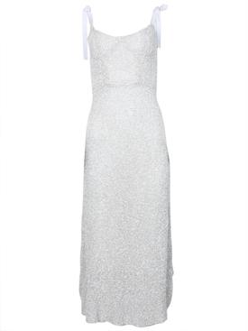Veronica Sequined Corset Dress White