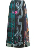 Salvatore Ferragamo - Mixed Print Midi Skirt - Women
