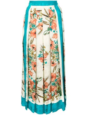 Gucci - Floral Print Pleated Skirt - Women