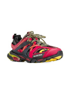 Balenciaga - Red And Black Track Sneakers - Men