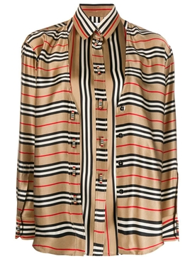 striped cardi-shirt NEUTRAL
