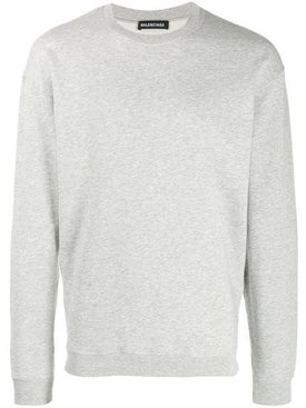 Balenciaga - Rear Embroidered Logo Sweatshirt Grey - Men
