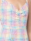 Saloni - Anya Rainbow Gingham Dress - Women