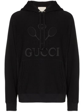 Gucci - Tennis Logo-embroidered Hoodie - Hoodies