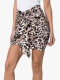 Alexandre Vauthier - Leopard Print Draped Mini-skirt - Women