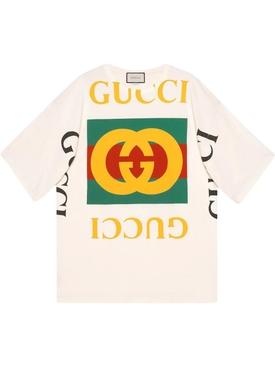 multicolor logo oversize t-shirt WHITE