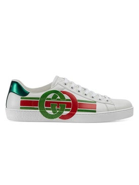 Gucci - Gg Green And Red New Ace Sneaker White - Men