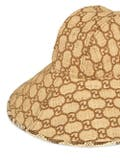Gucci - Gg Fedora Hat With Snakeskin - Men