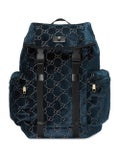 Gucci - Gg Velvet Backpack Blue - Women