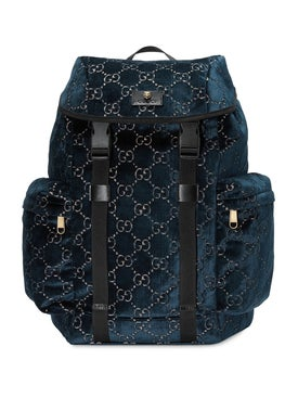 Gucci - Gg Velvet Backpack Blue - Women