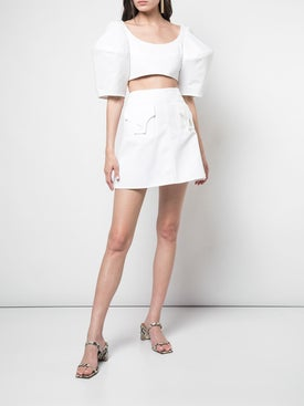 Ellery - Bubble Crop Top White - Women