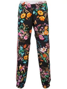 Gucci - Floral Print Track Pants Multicolor - Sweats