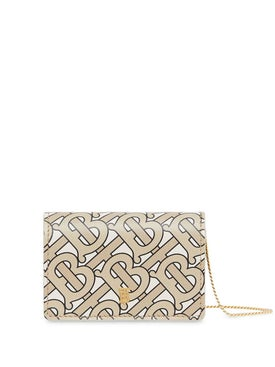 Burberry - Monogram Print Card Case With Detachable Strap - Women