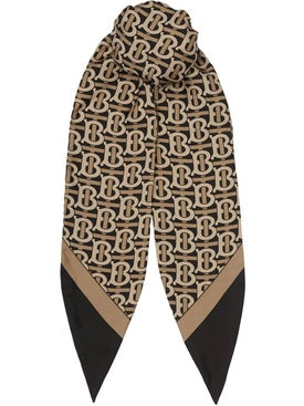 Burberry - Monogram Print Silk Hair Scarf - Women