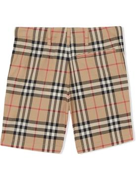 Kids check print shorts
